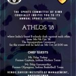 XIMB's Athlos 2018 from October 5