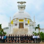 Japan Men's Hockey Team Enjoys Visit To Dhauli Shanti Stupa