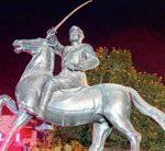 Who gave sword in the hand of Netaji Subhas Bose ?