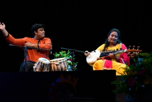 GKCM Award Festivsal: Debasmita's Sarod & Ilena's Odissi footwork spell bound the cultural connoisseurs on 5th evening
