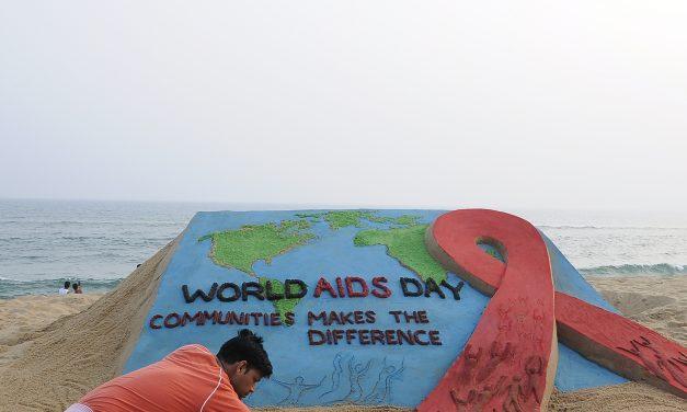 World AIDS Day: Sand artist Manas Sahoo's arty message