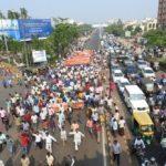 Slum dwellers protest eviction in Bhubaneswar city