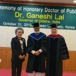 Odisha governor gets doctorate degree from Hanseo University of South Korea