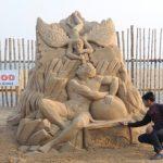 International Sand Artist Manas Sahoo's 6th art piece