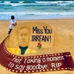 Int'l sand artist Sudarsan pays rich tribute to Irfan