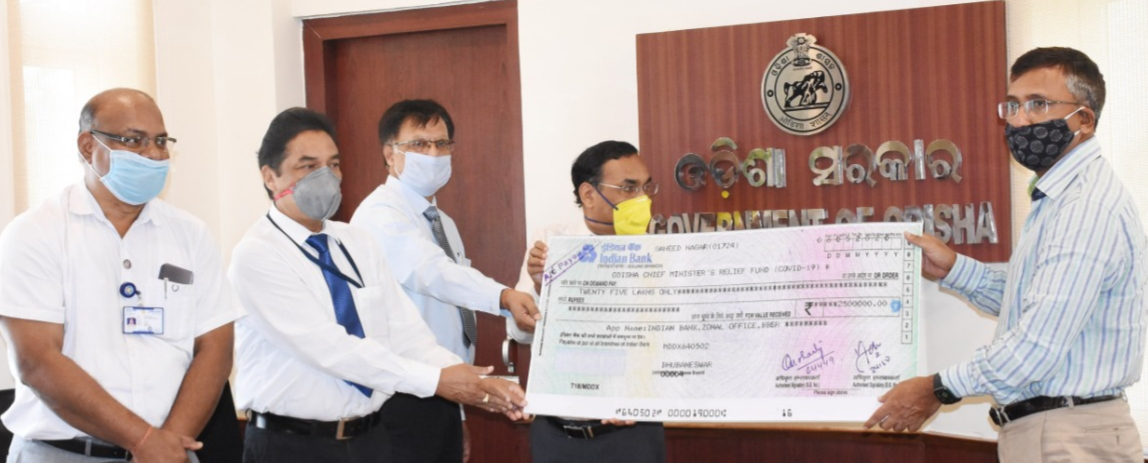 Indian Bank donates Rs 25 lakh to CMRF Covid Fund