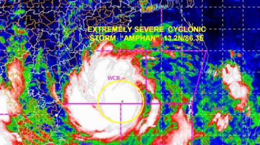 Storm Amphan becomes super cyclone inside the sea