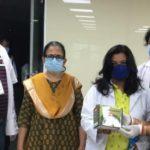 CARIHD Ayurvedic Hospital staff distributes immunity booster kits to Covid warriors