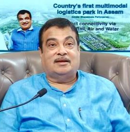 Nitin Gadkari lays foundation stone of country's first Multi-modal Logistic Park in Assam