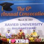 Sixth Annual Convocation of Xavier University, Bhubaneswar