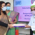 Swayamsiddha Ladies Club, NTPC CMHQ felicitated Associates